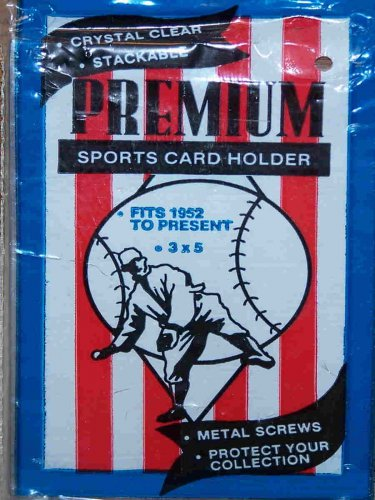 PREMIUM Plastic Sports Card Holder 3�X 5�X 1/4� Fits 1952 to present BRAND NEW!