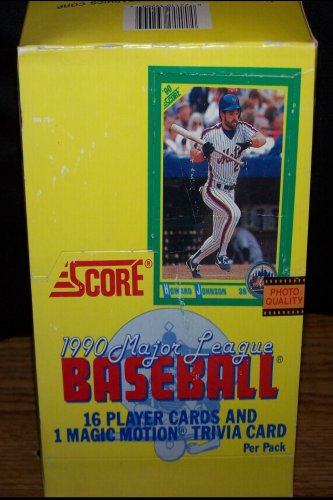 SCORE 1990 Major League, 16 Player Cards & 1 Magic Motion Trivia Card Per Pack, 36 Packs