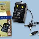 Universal AC/DC Adapter 500ma 110/220V Model Sevenstar SS104