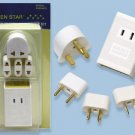 Small Travel Voltage Converter Kit SS204K with 4 Adapter Plugs Included