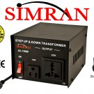 Simran AC100W Step UP/DOWN Voltage Converter Transformer for Heavy-Duty Continuous Use