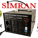 Simran AC5000W 5000 Watt Step UP/DOWN Voltage Converter Transformer for Heavy-Duty Continuous Use