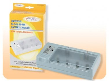 Seven Star SS801 Battery Charger Dual Voltage 110 220 Volt Charges AA, AAA, C, D, 9V Batteries