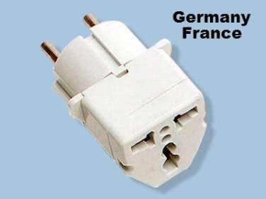 GS18 Germany France Universal Plug Adapter for Europe Type E/F