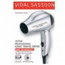Vidal Sassoon VS784 1875W Travel Hair Dryer Dual Voltage 110 220 Volt