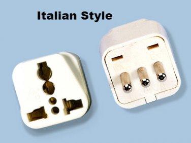 SS-418 Italy Universal Plug Adapter Three Prong Type L