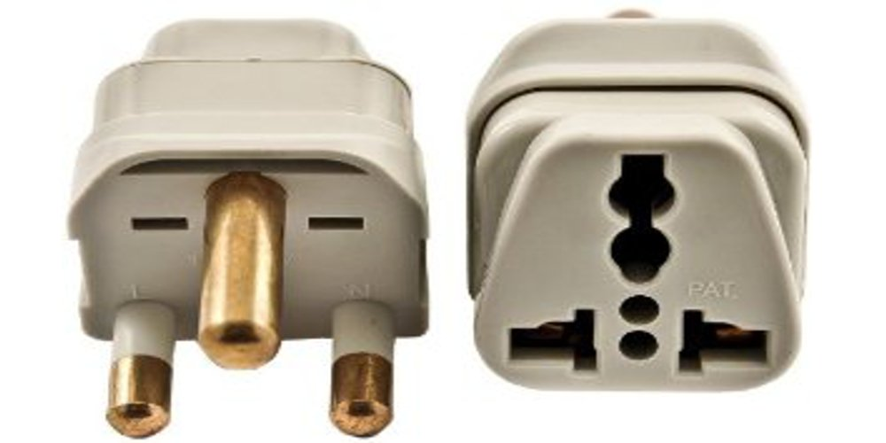 SS-415SA South Africa Universal Grounded Plug Adapter Grey Type M