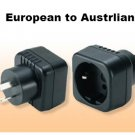 MAV-21 European Schuko to Australian grounded adapter plug Three Prong EU TO AU