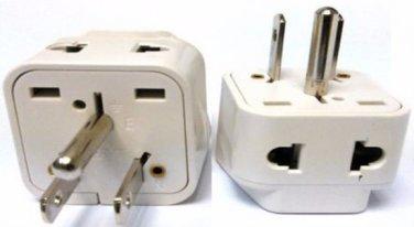 SS717 Universal to USA Grounded Plug Adapter