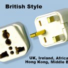 SS-414 UK Irealnd UAE Style Universal Plug Adapter 3 Square Prong Type G