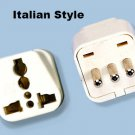 SS-418 Italy Universal Plug Adapter Three Prong Type L