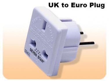 SS421 Adapter Plug from UK to standard European UK TO EU Adapter