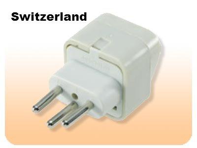 Ss429 Switzerland Universal Plug Adapter Three Prong For