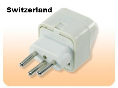 SS429 Switzerland Universal Plug Adapter Three Prong for Swiss Outlet Type J
