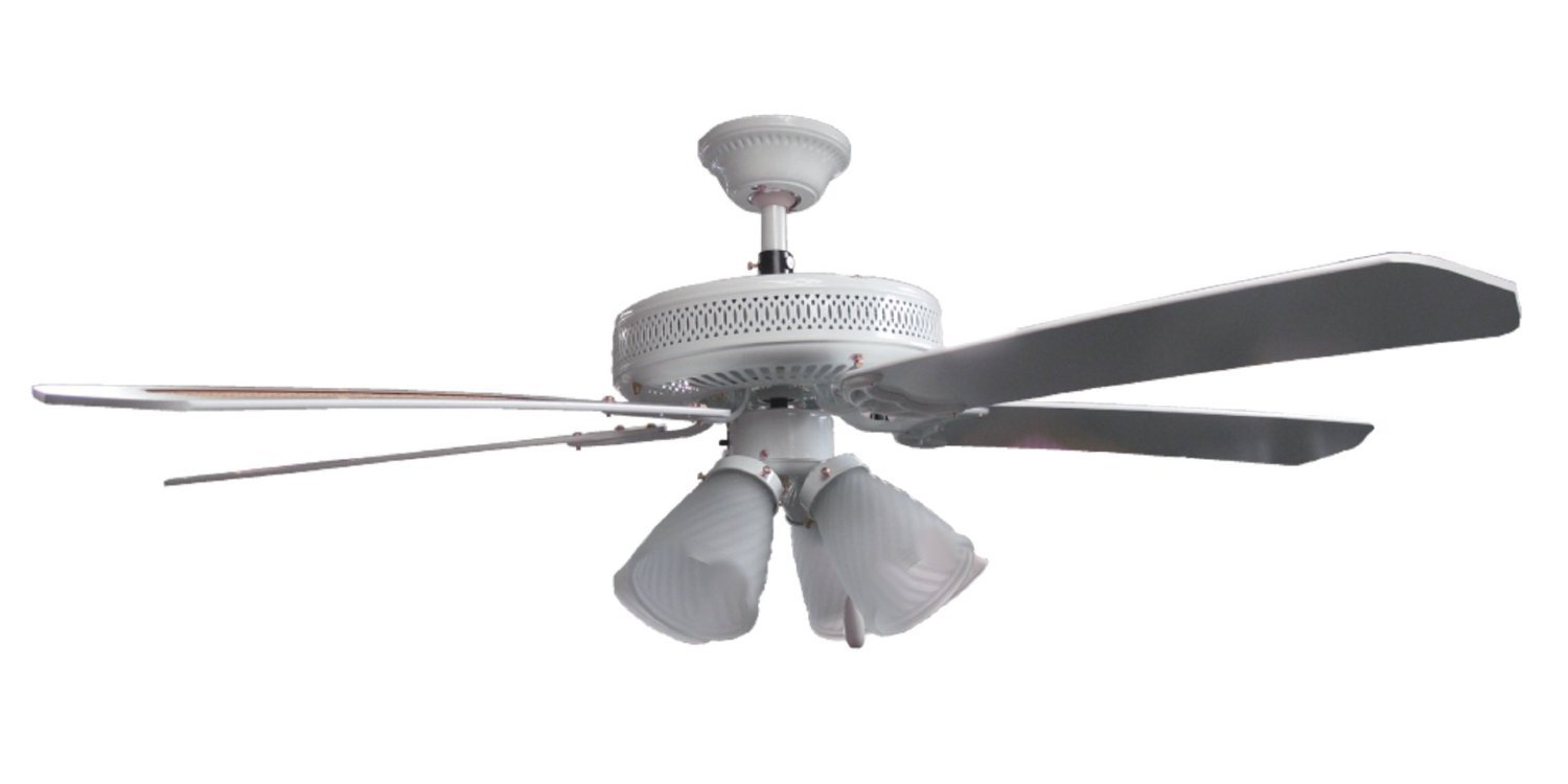Sakura 52 Quot 220 Volt White Ceiling Fan With Four Lights