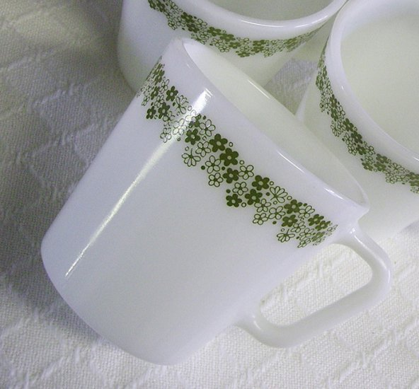 Corelle, Corning Ware, Spring Blossom / Crazy Daisy Mugs, Set of 4