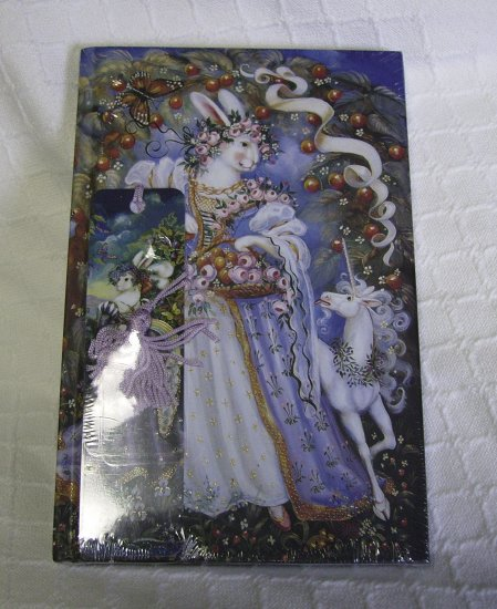 Journal Book, blank pages, Matching Bookmark, Rabbit Princess, 5.5� x 8.5�, Sealed