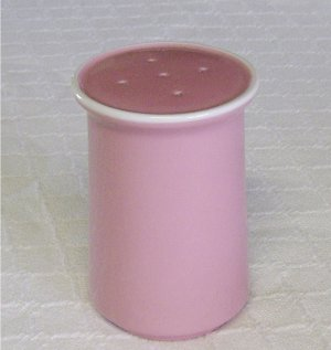 Mikasa, Country Gingham, Cotton Candy, Pink, Salt Shaker, Vintage, Rare!