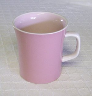Mikasa, Country Gingham, Cotton Candy, Pink, Mugs, set of 3, Vintage, Rare!