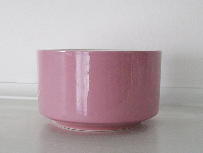 Mikasa, Country Gingham, Cotton Candy, Pink, Sugar Bowl, bottom only, vintage
