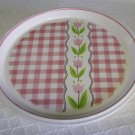 Mikasa, Country Gingham, Cotton Candy, Pink, Chop Plate, Platter