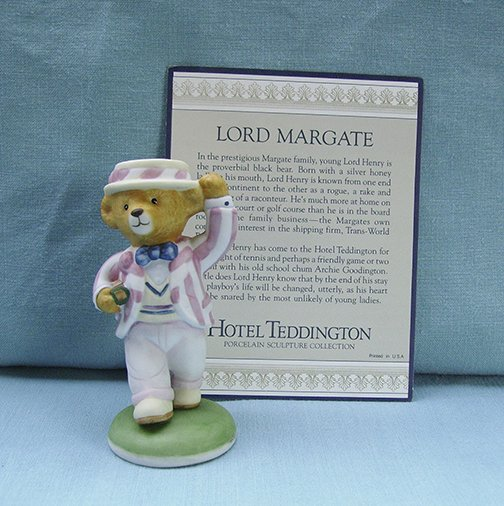 Franklin Mint, Hotel Teddington by Carol Lawson, Lord Margate Figurine, 1986