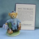 Franklin Mint, Hotel Teddington by Carol Lawson, Max the Bellboy Figurine, 1986