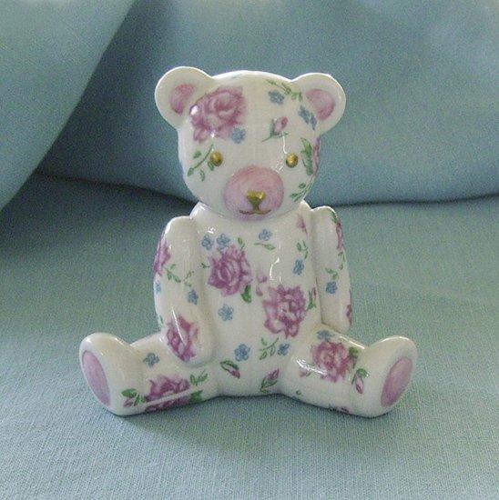 Franklin Mint, 1991, Americana Teddy Bear, Rose Chintz Teddy