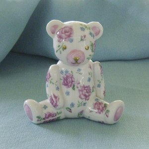 Franklin Mint, 1991, Americana Teddy Bear, Rose Chintz Teddy