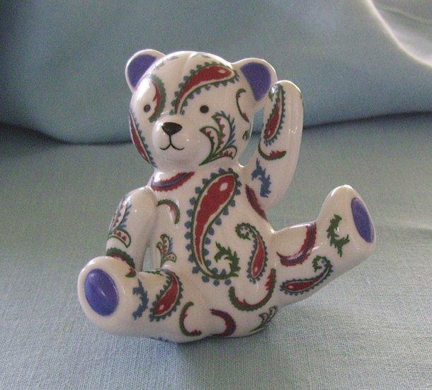 Franklin Mint, Americana Teddy Bear, Paisley Teddy, 1991