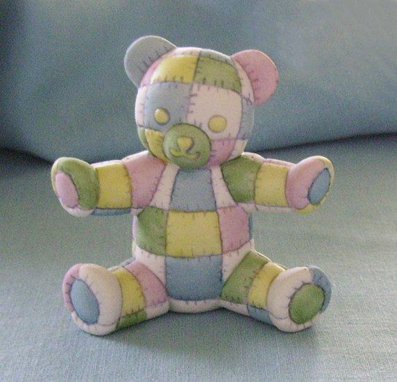 Franklin Mint, Americana Teddy Bear, Patchwork Teddy, 1991