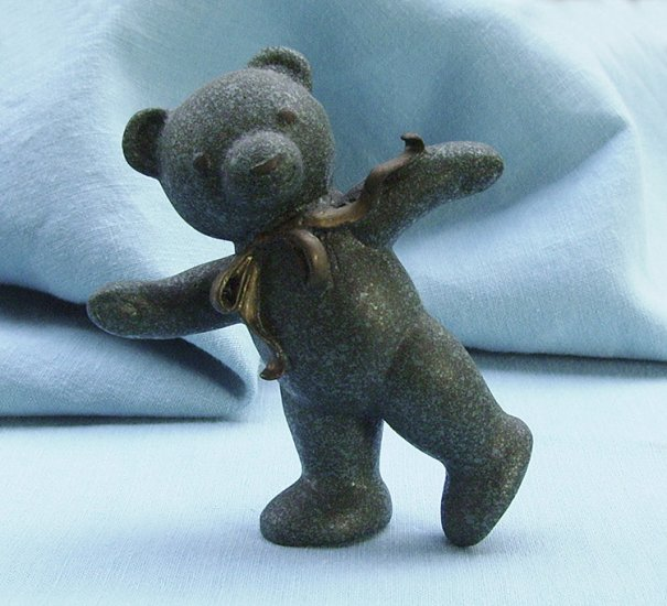 Franklin Mint, Americana Teddy Bear, Patina Bronze Teddy, 1991