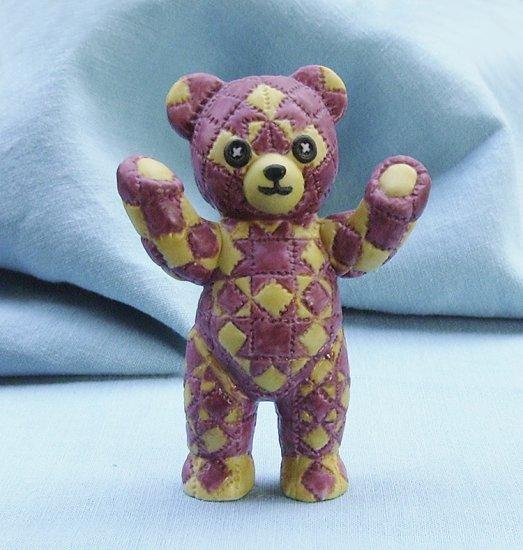 Franklin Mint, Americana Teddy Bear, Quilted Teddy, 1991