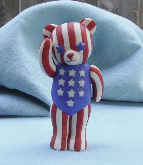 Franklin Mint, Americana Teddy Bear, Patriotic Teddy, 1991