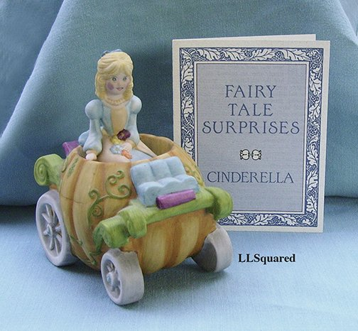 Franklin Mint, Fairy Tale Surprises Collection, 1986, Figurine, Cinderella and her Pumpkin Carriage