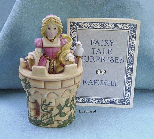 Franklin Mint, Fairy Tale Surprises Collection, 1986, Figurine, Rapunzel and the Castle