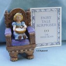 Franklin Mint, Fairy Tale Surprises Collection, 1986, Figurine, Goldilocks and the Three Bears Chair