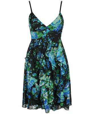 Forever 21 Spritzy Floral Chiffon Dress