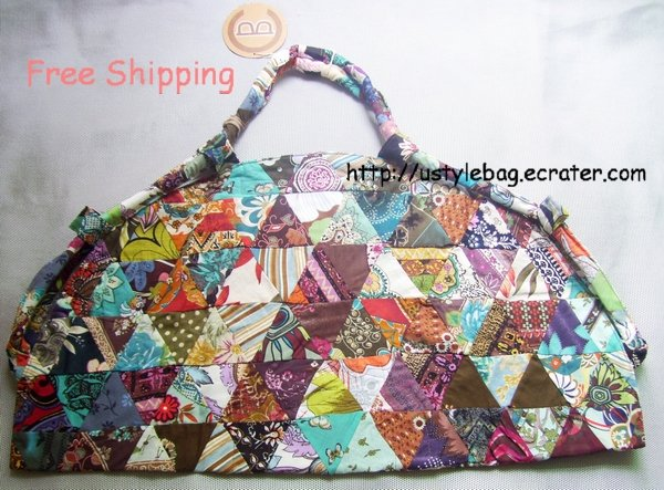 Beautiful patchwork bag dumpling shapes free shipping $