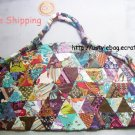 Beautiful patchwork bag dumpling shapes free shipping $