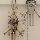 NEW Fashion Robot Shape Pendant Necklace Bronze chain