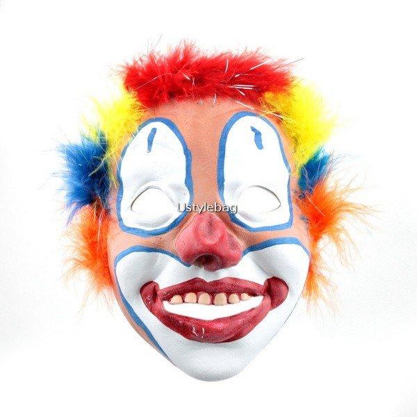 Halloween Party Rainbow Joker Circus Clown Juggler Mask