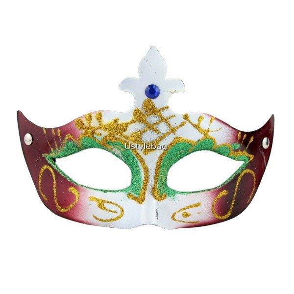 Mardi Gras Mask Eye Costume Decorative Side Masquerade for Halloween