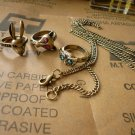 Vintage ring(3 pieces) bonus: necklace