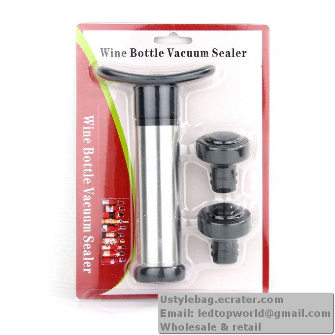 WINE BOTTLE SAVER VACUUM PUMP SEALER STOPPER BAR OPENER