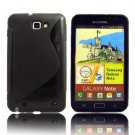 Free shipping Black Soft TPU Gel cover Case Cover For Samsung Galaxy Note GT-N7000 i9220