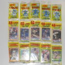 1990 SCORE Baseball Card Unopened Rack Packs - 48 Cards & 1 Glossy Print