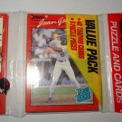 1990 Donruss Baseball UNOPENED Rack Pack w/ Juan Gonzalez Rookie Card Showing