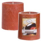 Luminessence Sandalwood & Amber Pillar Candles, 2�""