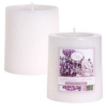 Luminessence Spa Collection White Lilacs & Lavender Pillar Candles, 2.875""